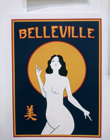paris belleville china girl beauty judgment blessing art nouveau illustration
